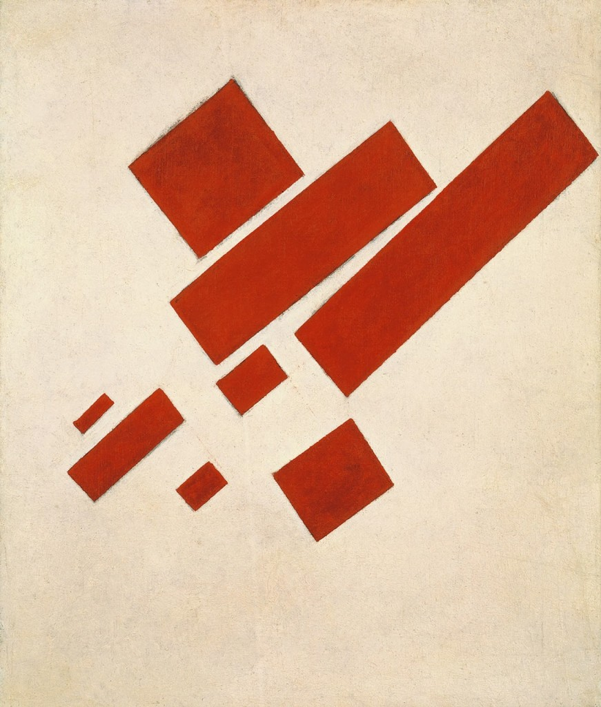 "Kazimir Malevich ""Eight Red Rectangles"" 1915 31.5 × 24.4 in Oil on canvas Stedelijk Museum (Amsterdam Netherlands)"