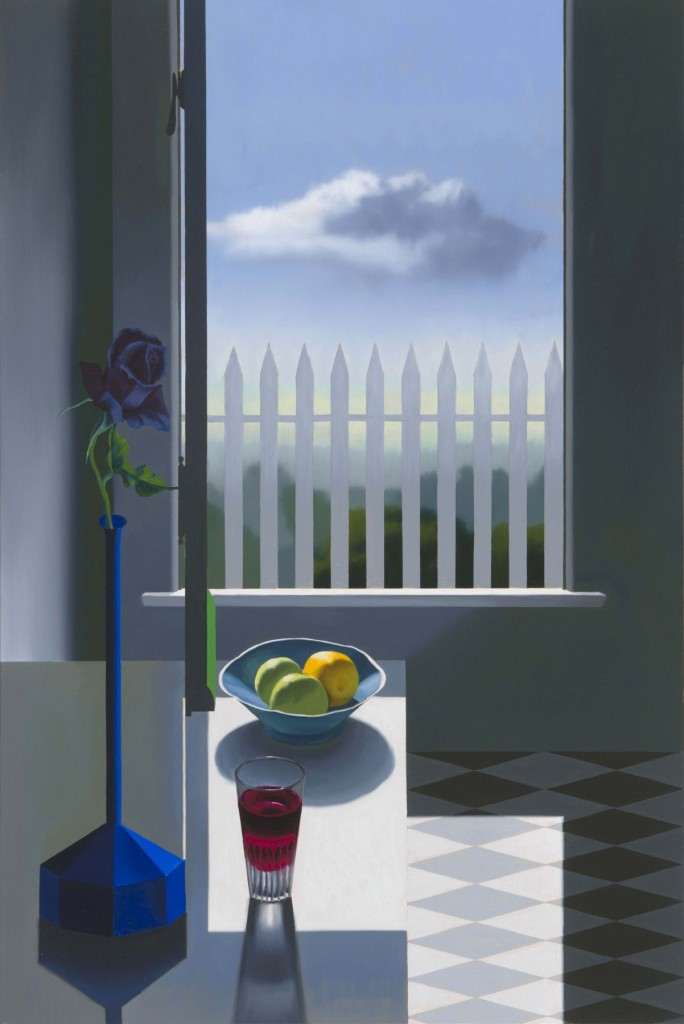 Bruce Cohen Still Life with Window and Picket Fence, 2015 Oil on canvas 36 x 24 inches