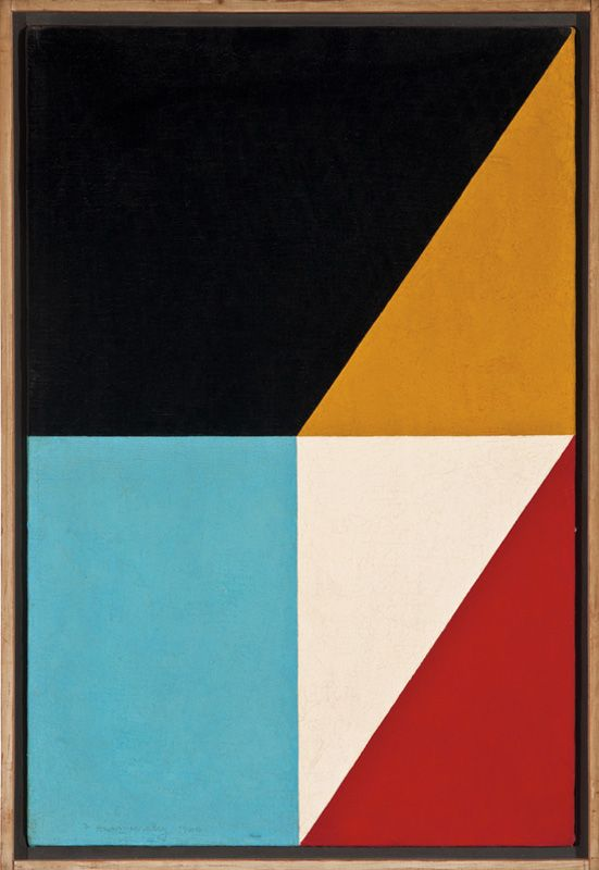 "Fractions #17 1960 / Frederick Hammersley (1919-2009) Fractions # 17, 1960. Hammersley was a critically acclaimed American abstract painter whose participation in the landmark 1959 Four Abstract Classicists exhibit secured his place in art history, as the first ""hard edge"" artists. He painted cool abstractions which were very different from the emotional ones of the established abstract expressionist movement."