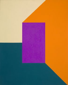 "Frederick Hammersley, ""On In"", 1961, oil on linen."