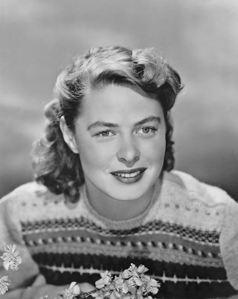 """Unlike many of her counterparts, the lovely Ingrid Bergman was known more for her natural beauty than for being a made-up bombshell. Bergman said she rarely wore makeup outside of when she was filming. She also chalked her looks up to good genes. Her approach to beauty was more about inner wellness. She also made sure to get plenty of exercise, simply by walking and taking the stairs instead of the elevator. She also said one of her favorite things was getting in the sauna and enjoying a rub down."""