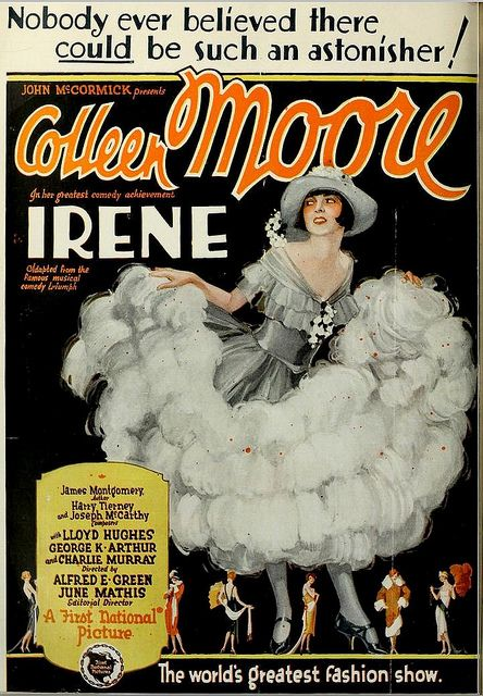 """Irene"" (1926) is a silent romantic comedy film starring Colleen Moore, and partially shot in Technicolor. The film was directed by Alfred E. Green. The scenes which were shot in Technicolor cost a total amount of $100,000. The total budget was $1,500,000. The film exists, with the Technicolor sequences intact."