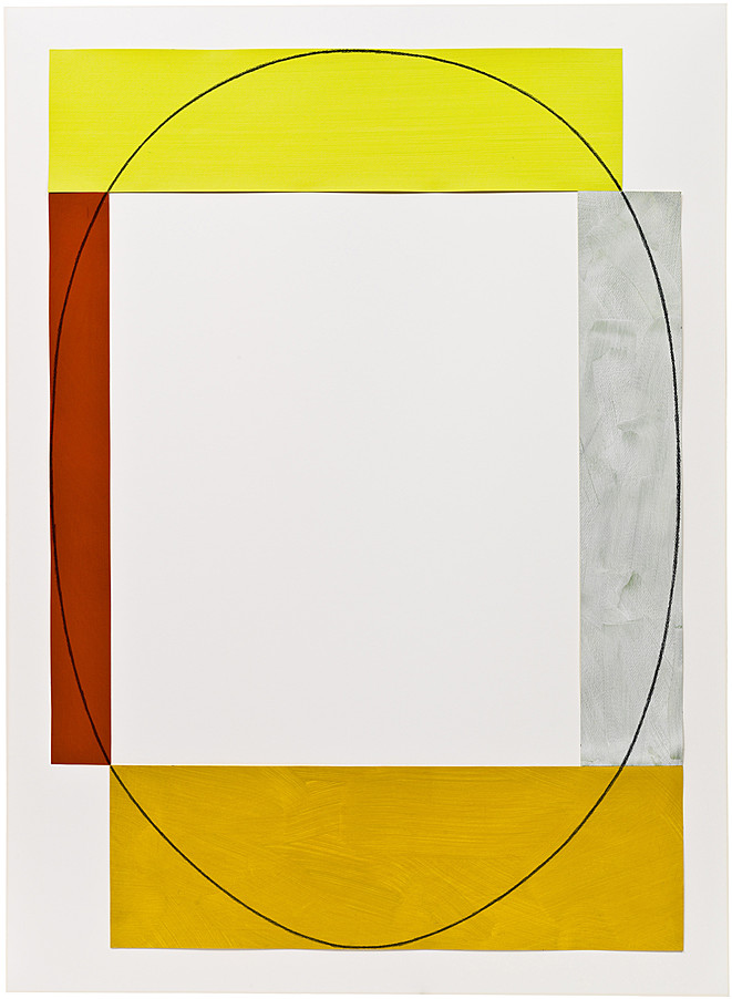 Robert Mangold b. 1937, North Tonwanda, New York 4 Color Frame Painting #9 1964 Acrylic and graphite on paper 44 x 31 inches (111.8 x 78.7 cm) Solomon R. Guggenheim Foundation Hannelore B. and Rudolph B. Schulhof Collection, bequest of Hannelore B. Schulhof, 2012