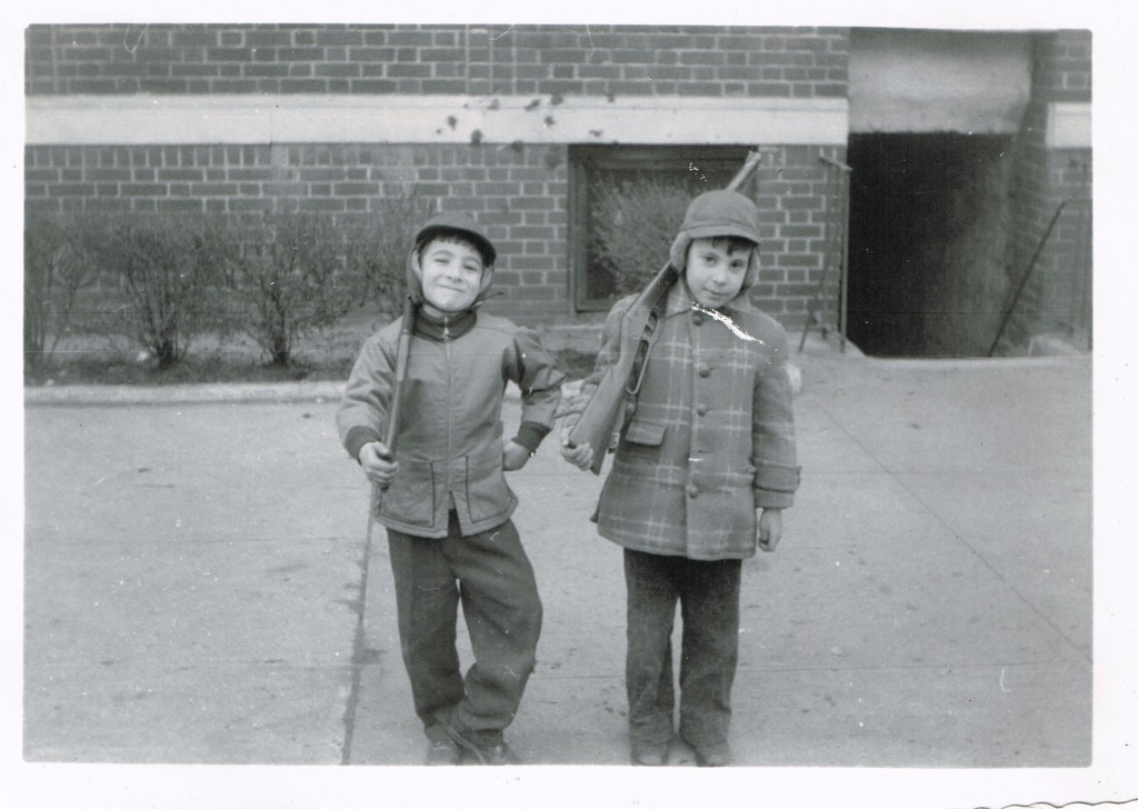 That's me on the left and my cousin Andrew (Alice's older brother) next to me. We're standing in front of 760 East 10th Street, Brooklyn NY, 1957. Andrew and I were inseparable.