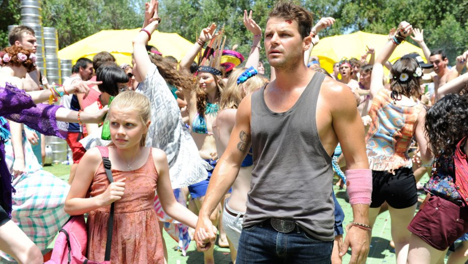"Angourie Rice and Nathan Phillips in ""These Final Hours""."