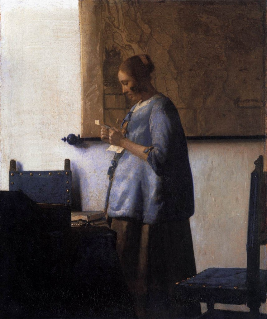 Johannes Vermeer Woman in Blue Reading a Letter 1663-64 Oil on canvas, 46,6 x 39,1 cm Rijksmuseum, Amsterdam