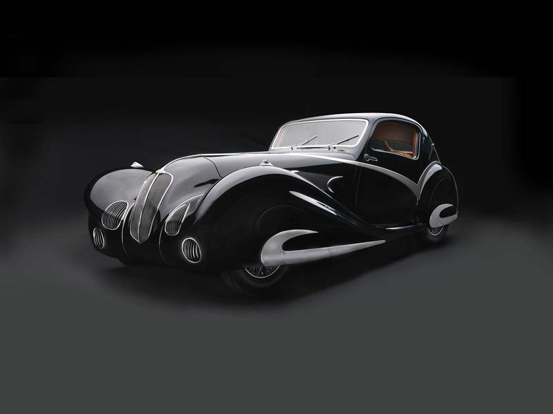 135 Competition Coupe, 1936. From the Sculpted in Steel exhibition