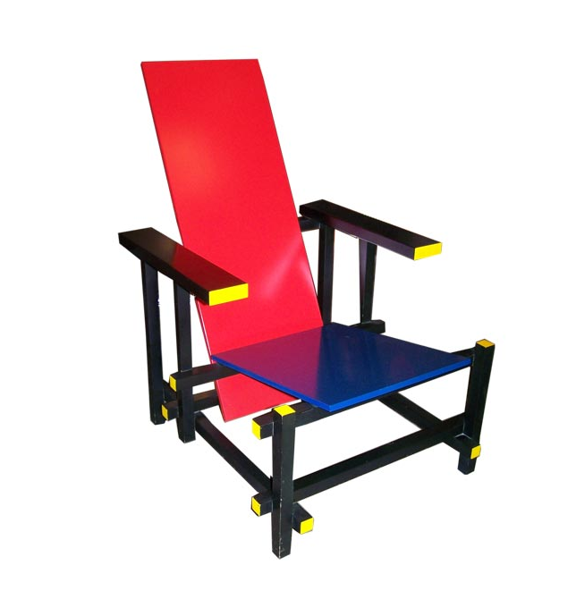 Gerrit Rietveld, Red and Blue chair, 1918