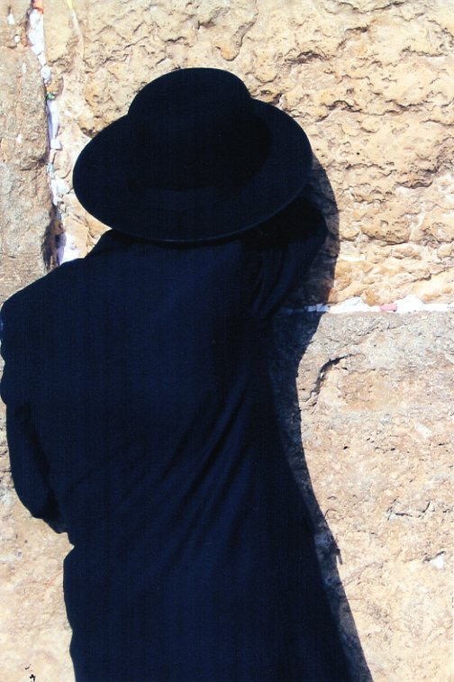 A Jew prays at the Western Wall (Photo by Robert J. Avrech)