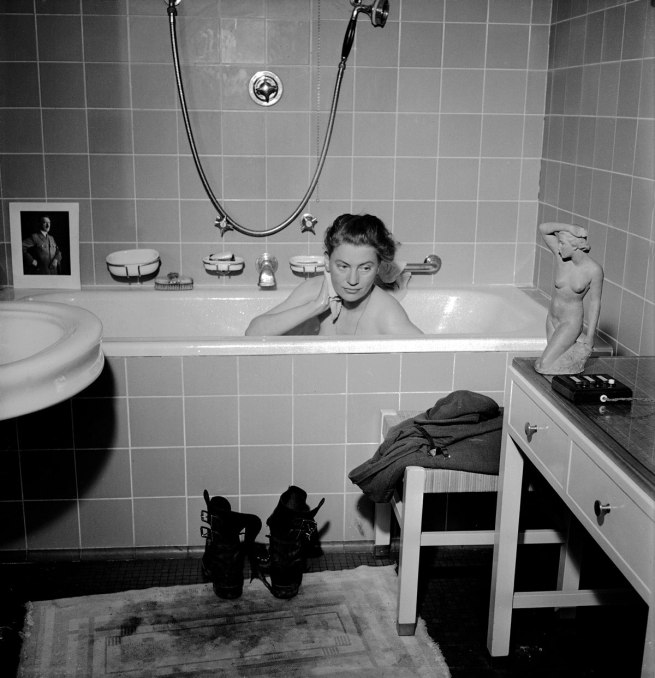 Lee Miller with David E. Scherman Lee Miller in Hitler's Bathtub, Munich, Germany 1945 © Lee Miller Archives England 2015. All Rights Reserved