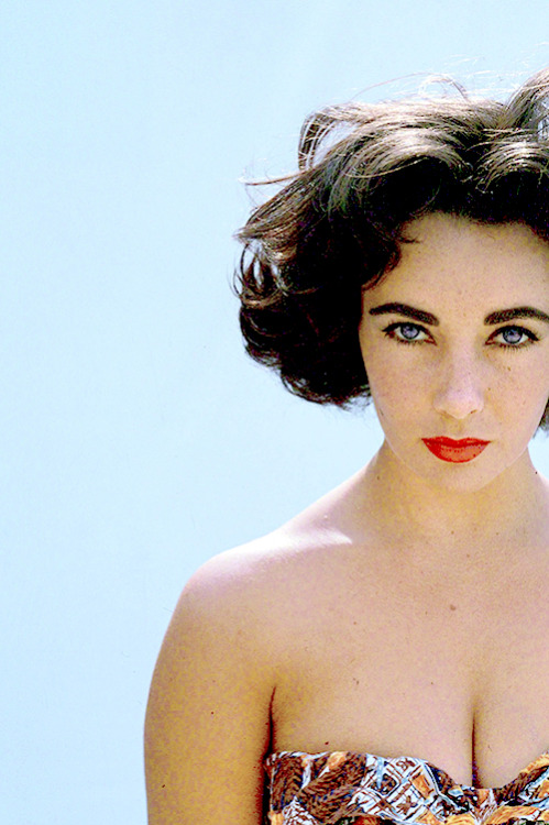 Elizabeth Taylor photographed by Richard Avedon, 1956.