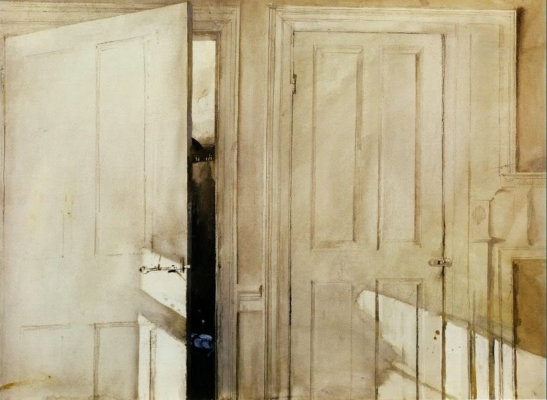 Andrew Wyeth Open and Closed 1964