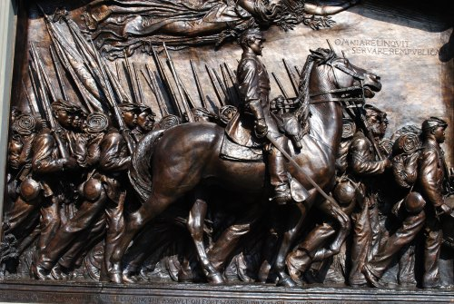 Augustus Saint-Gaudens, Memorial to Robert Gould Shaw and the Massachusetts Fifty-fourth Regiment, 1897