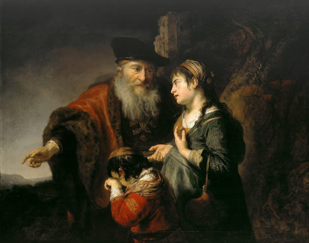 Govern Flinck The Expulsion of Hagar Oil on canvas, 110.7 x 138.8 cm