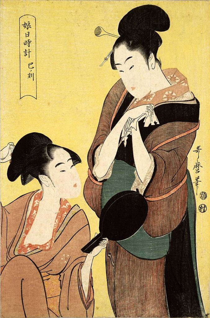 "Utamaro ""Women Playing with the Mirror"" 1797"