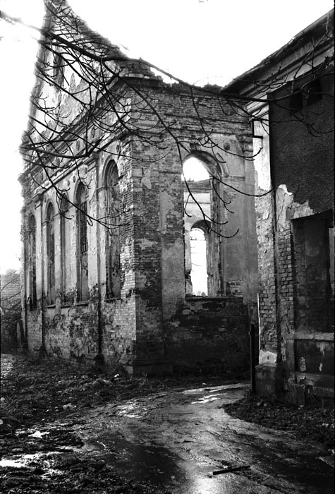 Jeff Gusky 'Desecrated Synagogue and Jewish School' Dzialoszyce, Poland, 1999