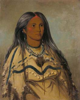 Sha-kó-ka, Mint, a Pretty Girl 1832 George Catlin oil on canvas 29 x 24 in. (73.7 x 60.9 cm) Smithsonian American Art Museum.