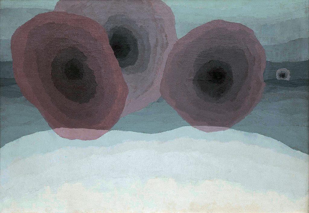Arthur Dove (1880–1946), Fog Horns, 1929. Oil on canvas, 18 x 26 inches. Colorado Springs Fine Arts Center. Anonymous gift (FA 1954.1). Courtesy of and © The Estate of Arthur Dove/ Courtesy Terry Dintenfass, Inc.