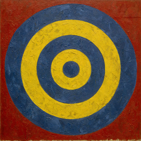 Jasper Johns (b. 1930) Target, 1958 oil and collage on canvas 91.44 x 91.44 cm (36 x 36 in.) Collection of the Artist. Art © Jasper Johns/Licensed by VAGA, New York, NY