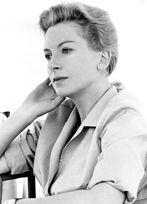 """The camera is a very fascinating machine. It can have an almost microscopic eye on any artist … You can't fight it. It's there. It shows you what you really are."" —Deborah Kerr"