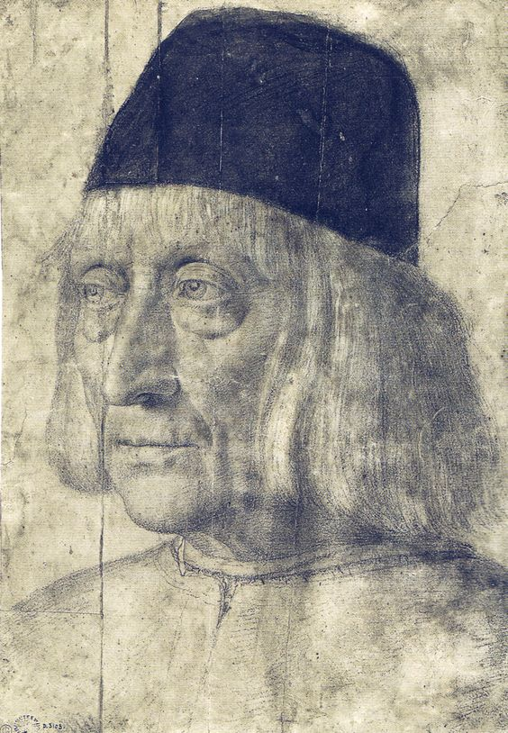 Andrea Mantegna (Italian, c. 1431 –1506) Drawing of Unknown Man