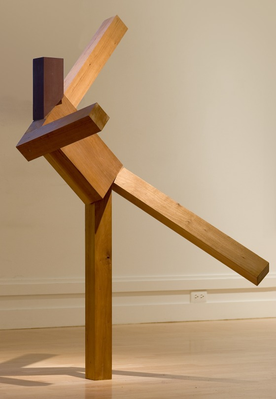 Untitled (Dancing Man) Joel Shapiro (United States, New York, New York City, born 1941) United States, 1981 Sculpture Cherry wood, oil, and paint 55 x 28 1/2 x 31 in. (139.7 x 72.39 x 78.74 cm)