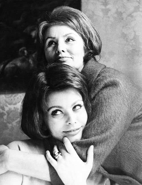 Sophia Loren with her mother Romilda Villani in Rome by Irving Penn, 1962