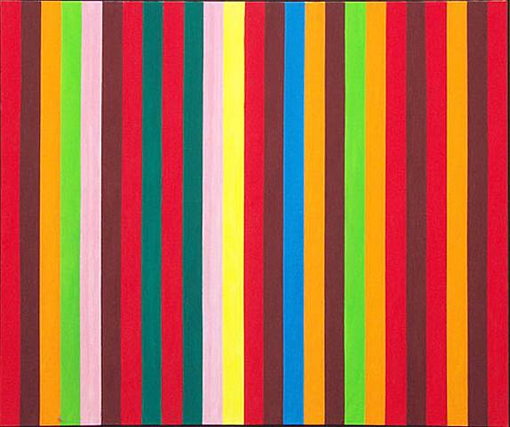 Gene Davis Sour Ball Beat 1964 acrylic on canvas 126.36 x 106.68 cm