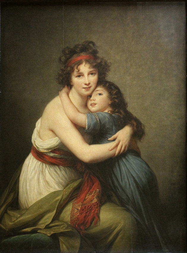 "Élisabeth Louise Vigée Le Brun, ""Self-portrait with daughter,"" 1789"