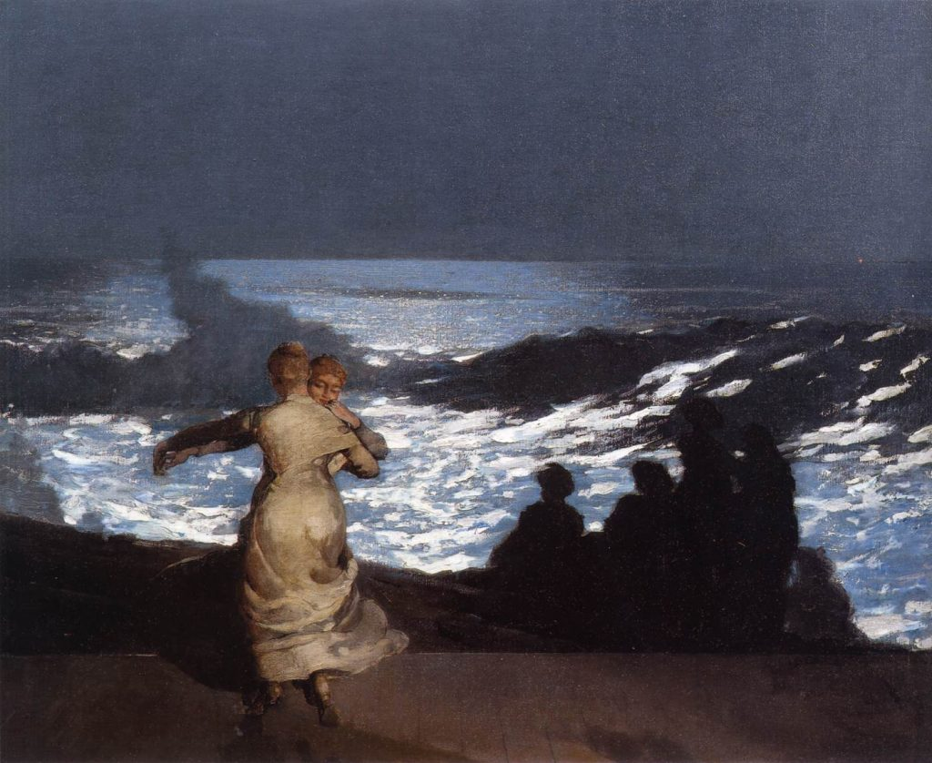 Winslow Homer American painter (b. 1836, Boston, d. 1910, Prouts Neck) Summer Night 1890 Oil on canvas, 77 x 102 cm Musée d'Orsay, Paris