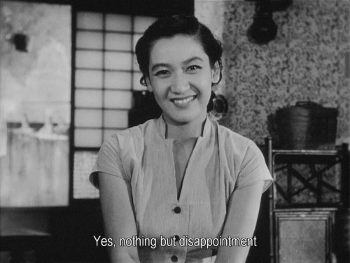 Tokyo Story, directed by Yasujirô Ozu, 1953 Written by Kōgo Noda, and Yasujirō Ozu Pictured are Kyôko Kagawa, and Setsuko Hara Tokyo Story is one of the most perceptive films ever made about children and their aging parents. Highly recommended.
