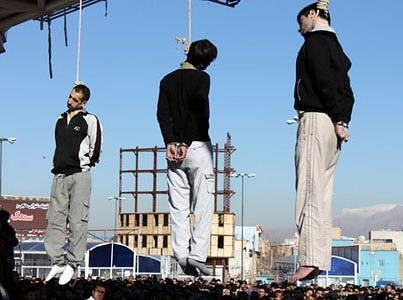 In Iran, Obama's latest BFF, they hang gays in public from cranes.