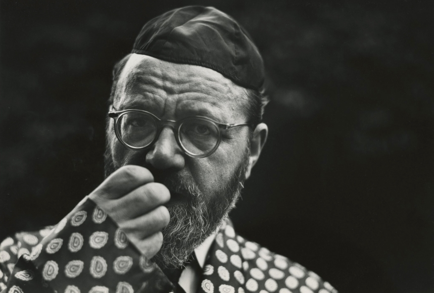 Saul Leiter Rabbi Wolf Leiter, my father, 1948 8 7/8 X 13 inches Gelatin silver print; printed 1960s