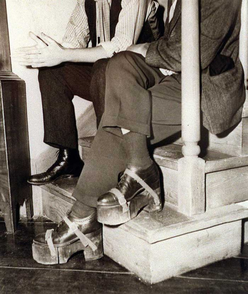 Since Humphrey Bogart was shorter than Ingrid Bergman, he wore these platform shoes during the filming of Casablanca.