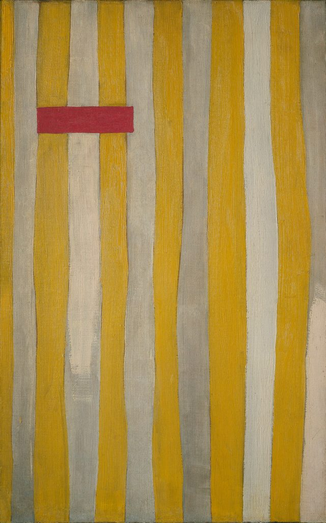 "Robert Motherwell ""The Little Spanish Prison"" Oil on canvas, 1941-44 27.25 x 17.125 in."