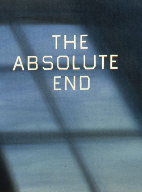 Ed Ruscha, The Absolute End, dry pigment on paper, 1982.