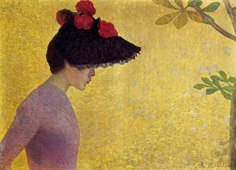Aristide Maillol (French artist, 1861-1944) Profile of a Young Woman, 1890