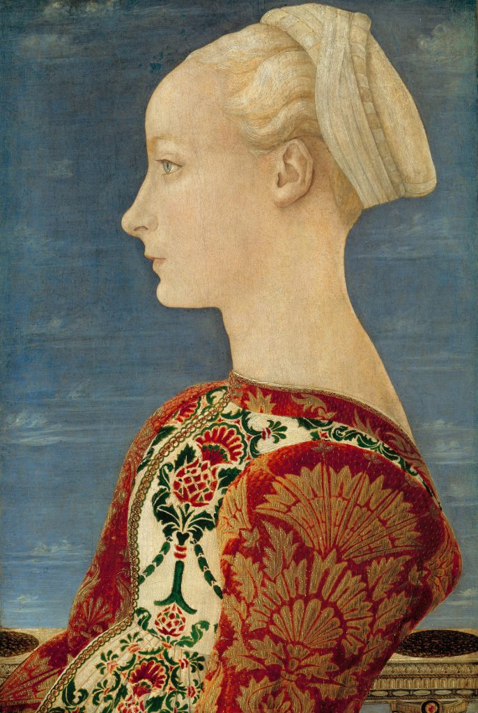 Antonio del Pollaiuolo - Profile Portrait of a Young Lady (1465)