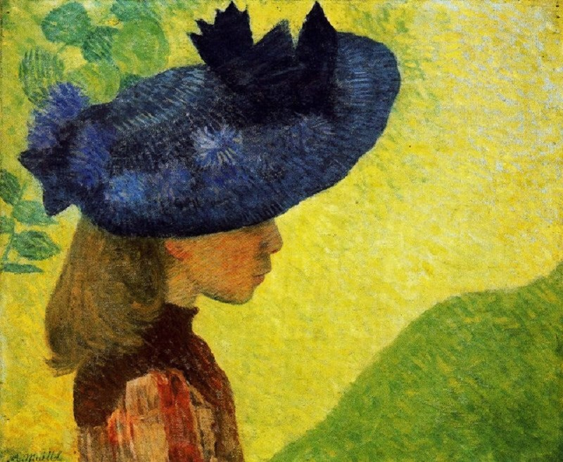Aristide Maillol (French artist, 1861-1944) Mademoiselle Faraill with a Hat, 1890