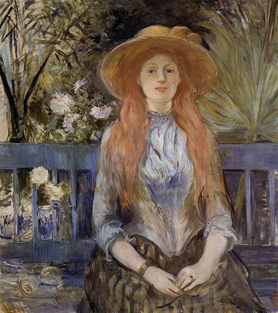 Berthe Morisot (French artist, 1841-1895) On a Bench