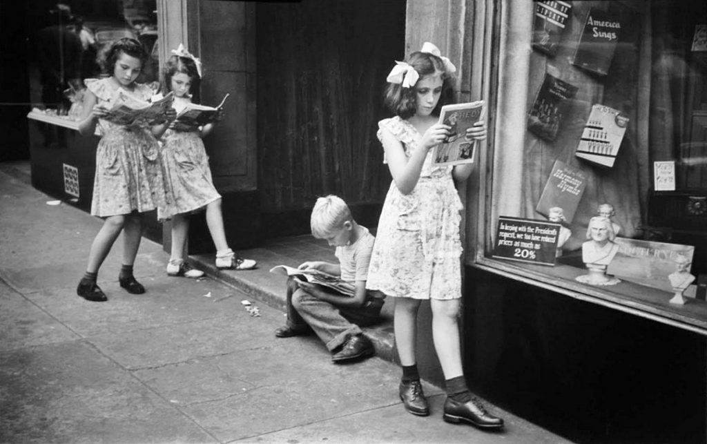 Ruth Orkin Comic Book Readers, New York City, 1947