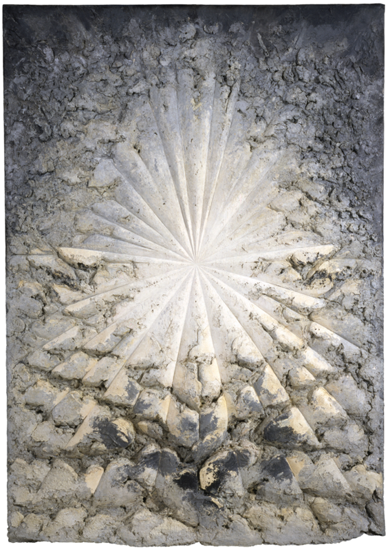 Jay DeFeo The Rose, 1958–66. Oil with wood and mica on canvas, 128 7:8 × 92 1:4 × 11 in. (327.3 × 234.3 × 27.9 cm). Whitney Museum of American Art,