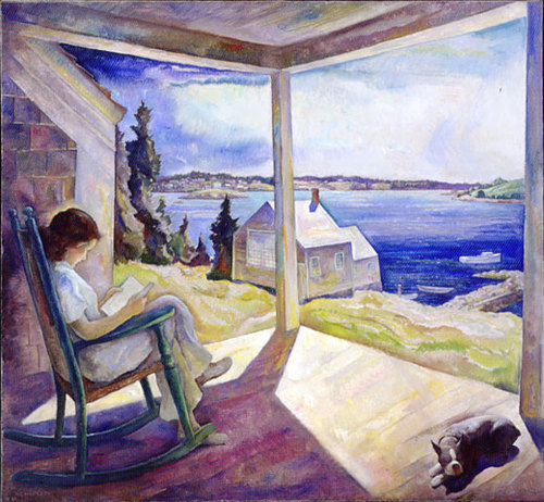 N.C. Wyeth (American, 1882-1945) Portrait of Ann Reading, c. 1930 Oil on canvas 48 1⁄4 x 52 3:16 inches Private Collection