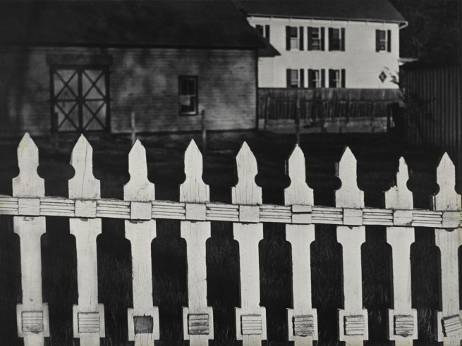 Paul Strand (American, 1890 – 1976) White Fence, Port Kent, New York 1916 (negative); 1945 (print) © Paul Strand Archive, Aperture Foundation