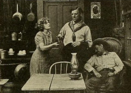 Marguerite Clayton and G.M. Anderson in a Broncho Billy film.