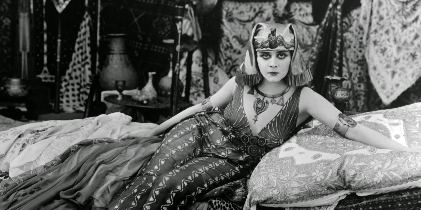 Theda Bara as Cleopatra, 1917, a lost film.