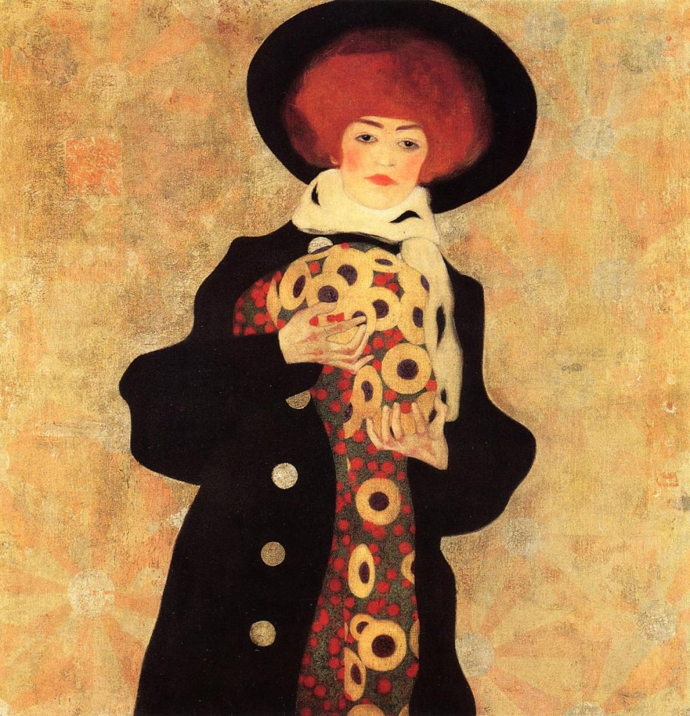 Egon Schiele Woman with Black Hat 1909; Vienna, Austria oil, canvas