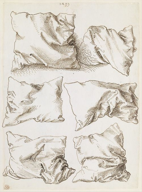 Albrecht Dürer, Six Pillows, pen and brown ink, 1493. The Metropolitan Museum of Art.
