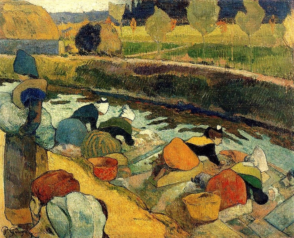 Paul Gauguin (1848-1903). Washerwomen at the Roubine du Roi Arles