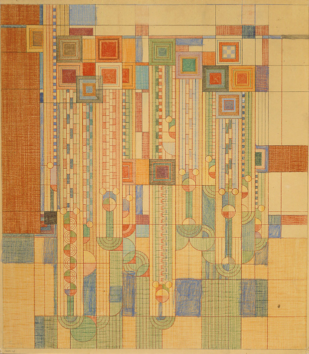 Frank Lloyd Wright, 'Saguaro Forms and Cactus Flowers.' Rug design, 1955
